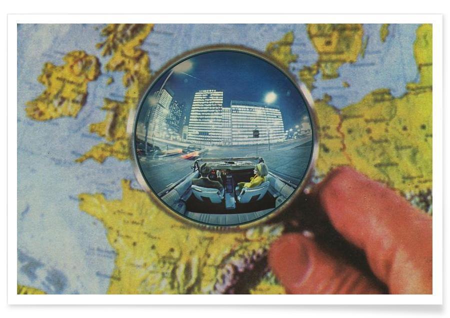 Weltkarten, Lets get lost -Poster