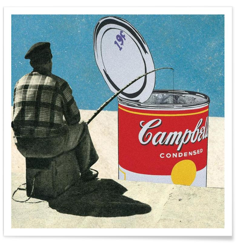 Retro, Fishing For Warhol -Poster
