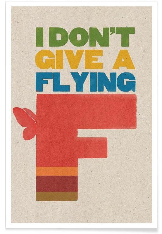 Citations et slogans, flyingf affiche
