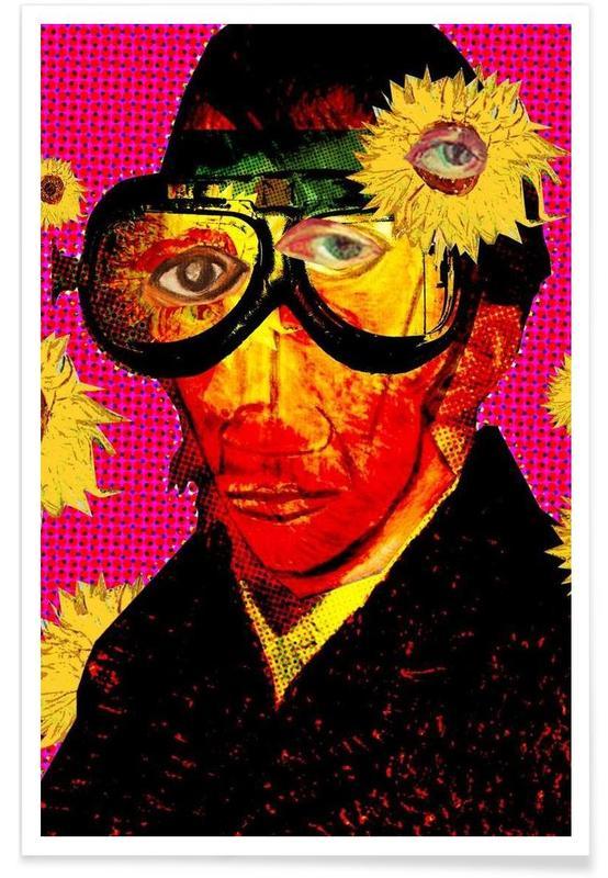 Popart, Vincent Van Gogh, Pablo van Gogh 4 poster