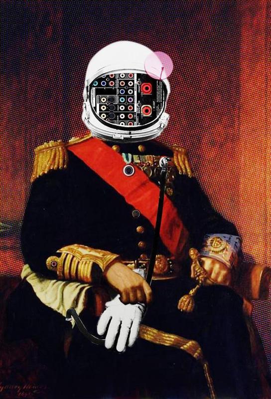 Space General Plug Man Aluminium Print