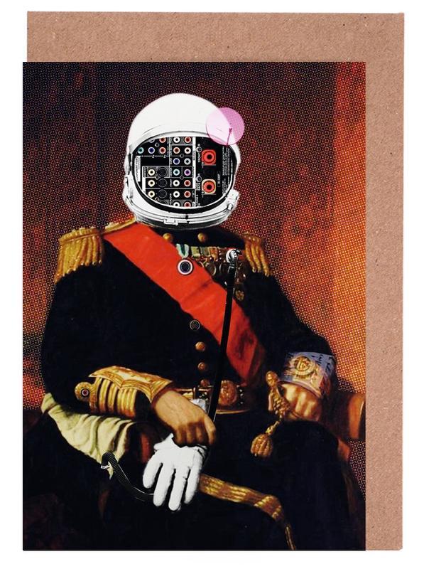 Astronauten, Space General Plug Man -Grußkarten-Set
