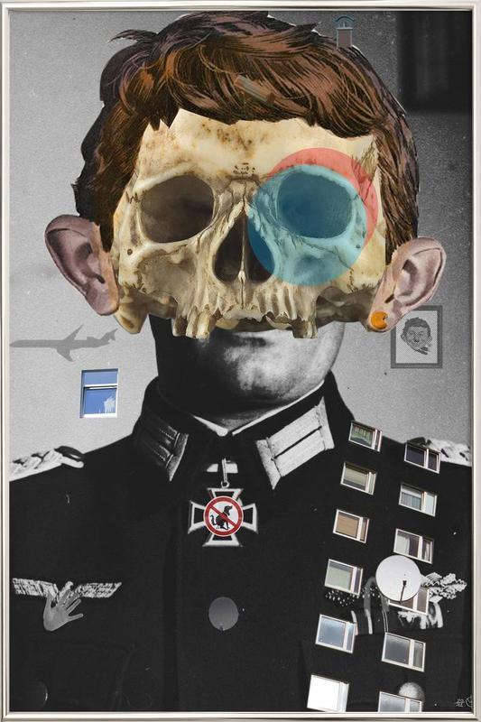 War Collage 2 poster in aluminium lijst