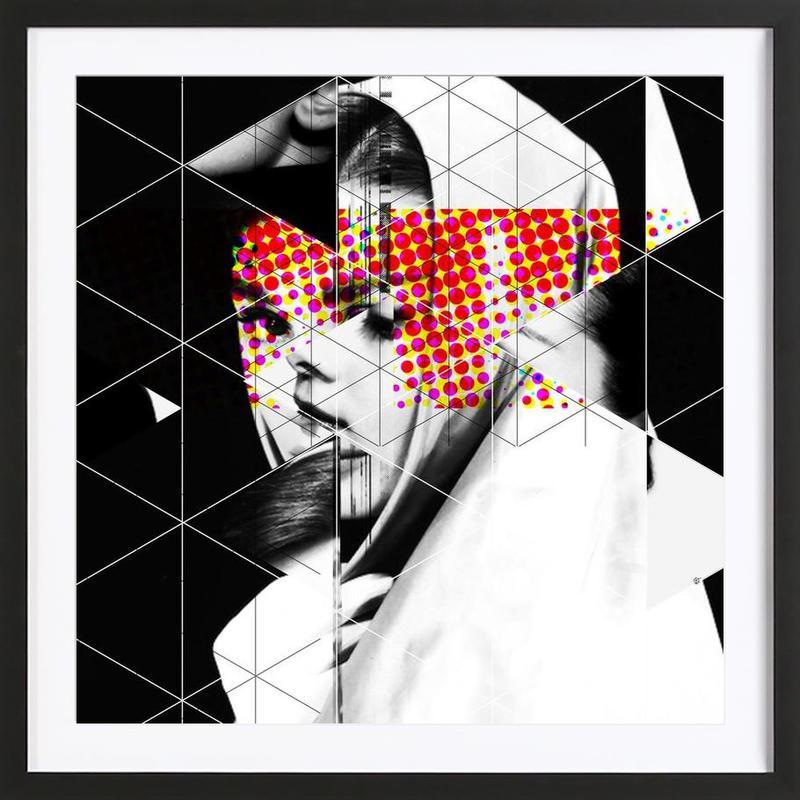 Audrey Mix 4 Framed Print
