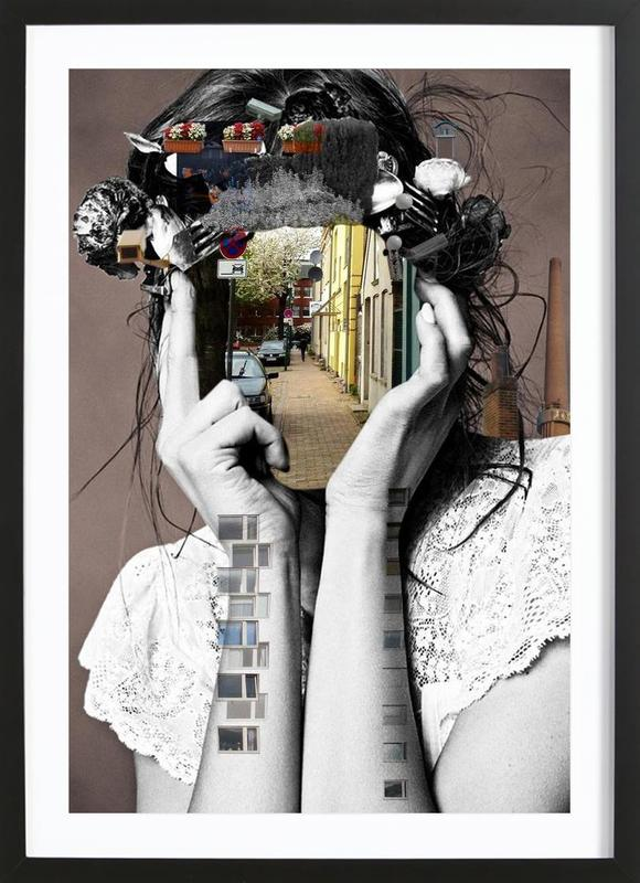 Crazy Woman – Lara Lisa Bella ingelijste print