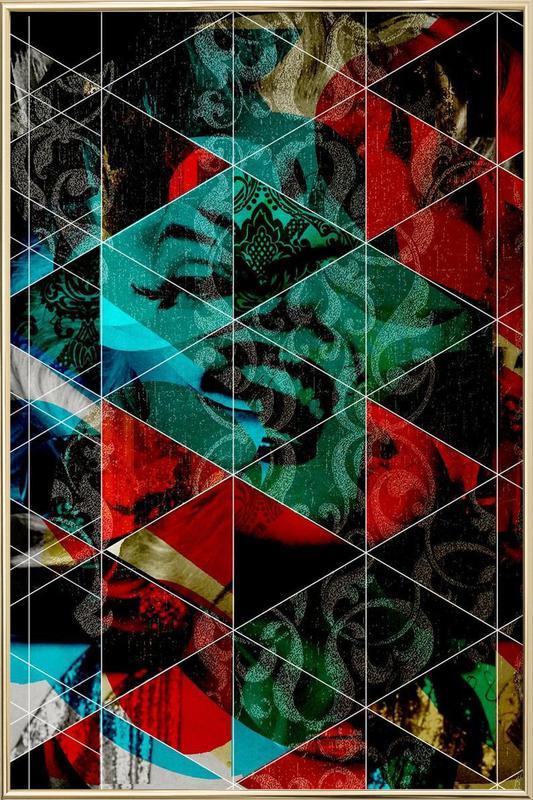 Marilyn Mix 7 Poster in Aluminium Frame