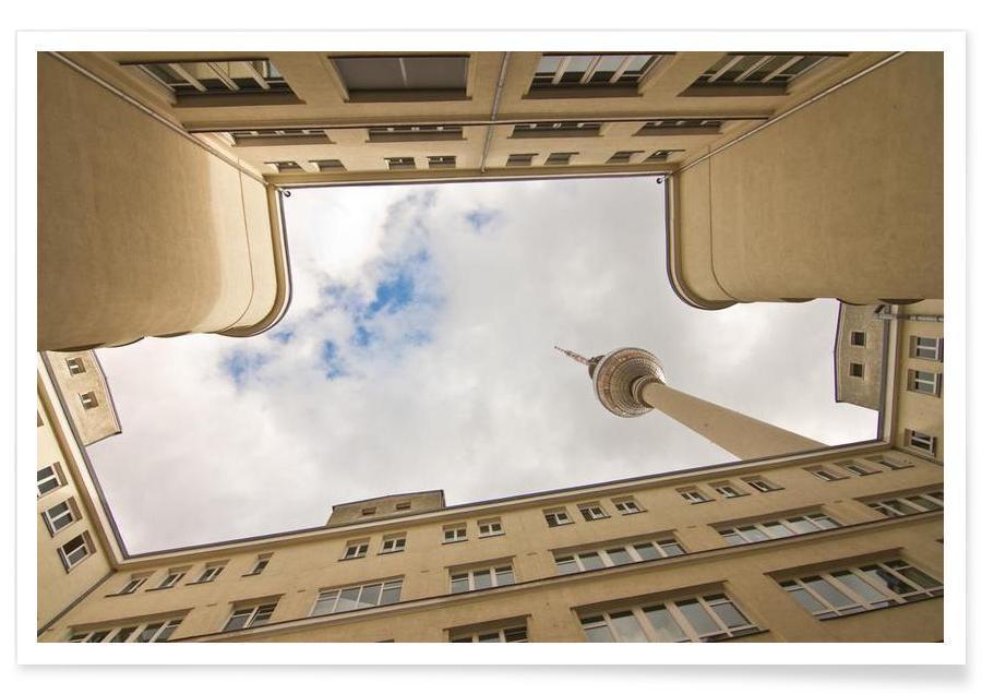 Berlin, Sights & Landmarks, Hinterhof 80 Poster