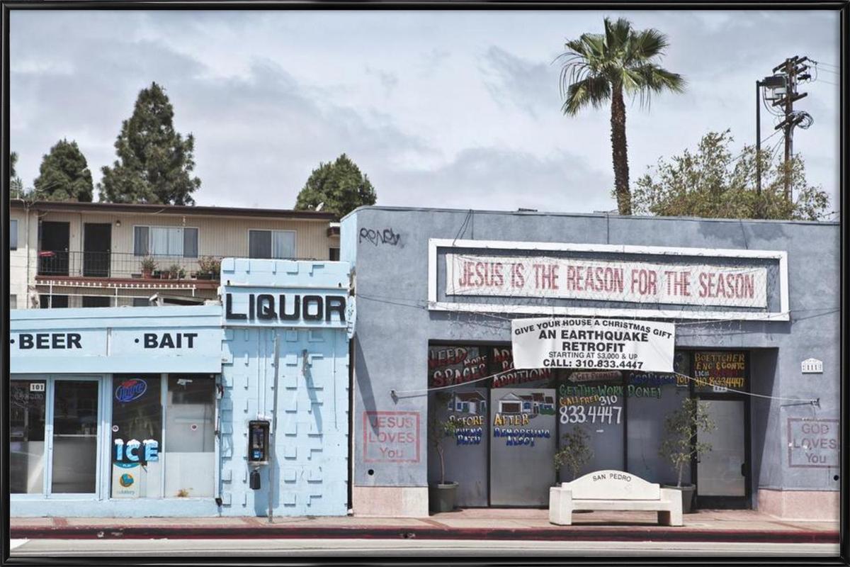 Liquor Store San Pedro Framed Poster