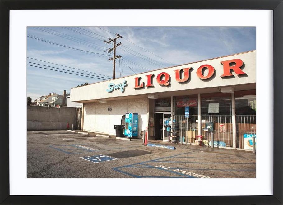 Liquor Store Santa Monica -Bild mit Holzrahmen