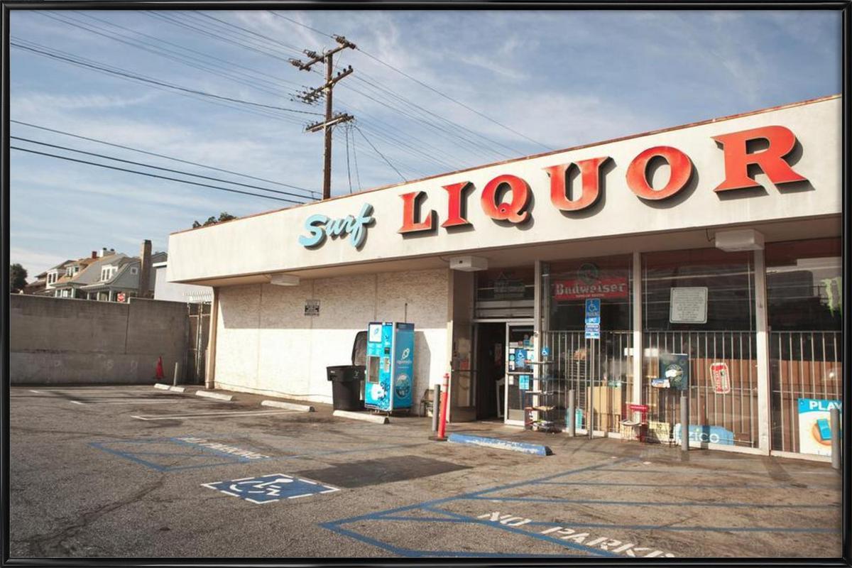 Liquor Store Santa Monica -Bild mit Kunststoffrahmen