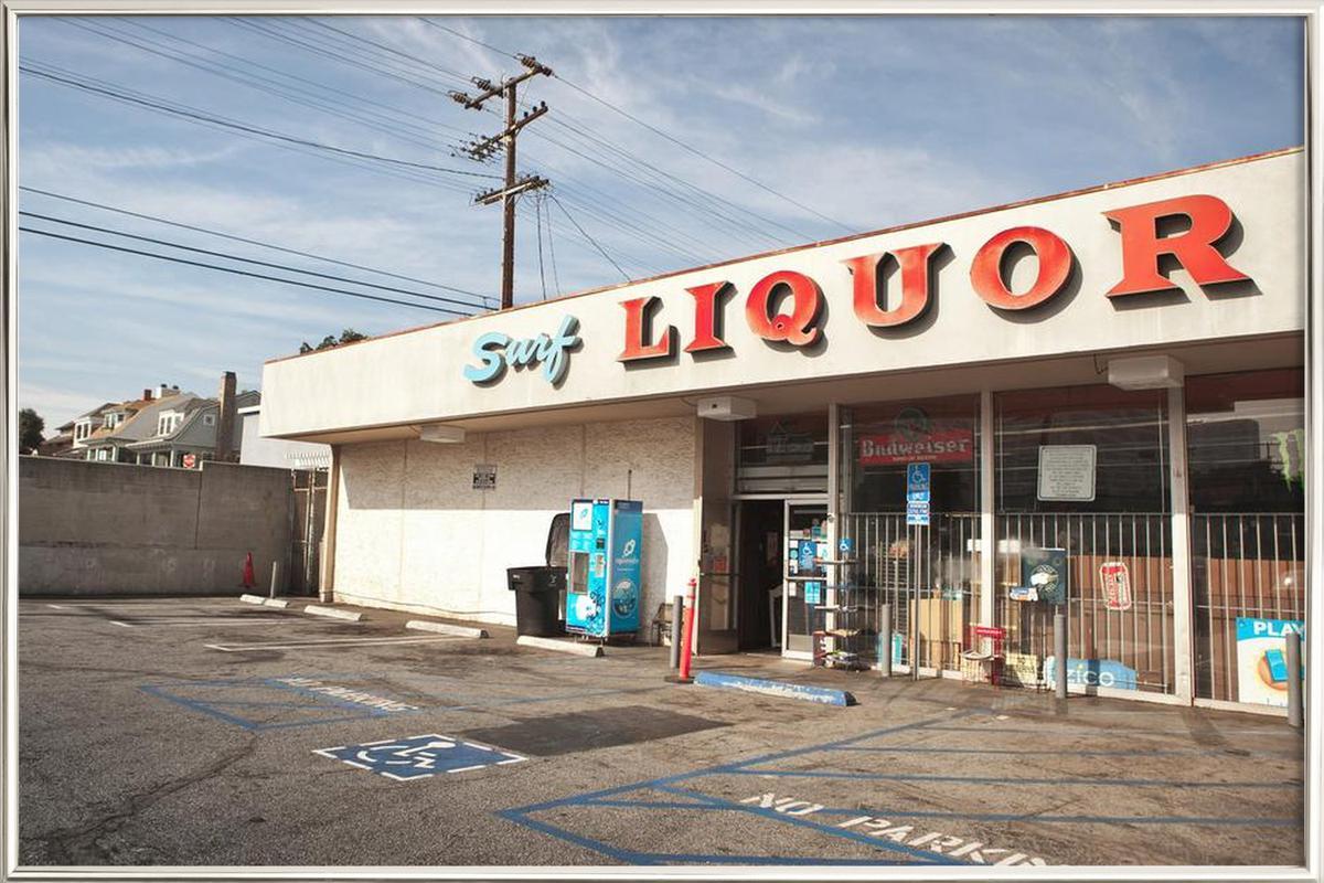 Liquor Store Santa Monica -Poster im Alurahmen