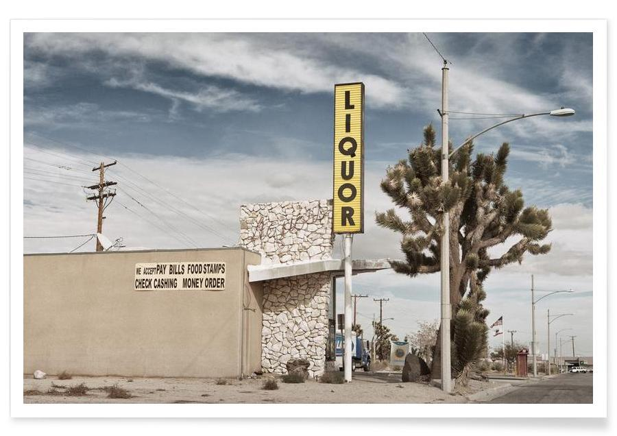 Architectural Details, Liquor Store Yucca Valley Poster