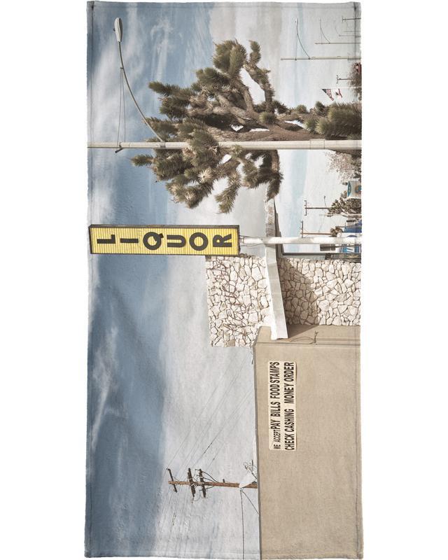 Architectonische details, Liquor Store Yucca Valley handdoek