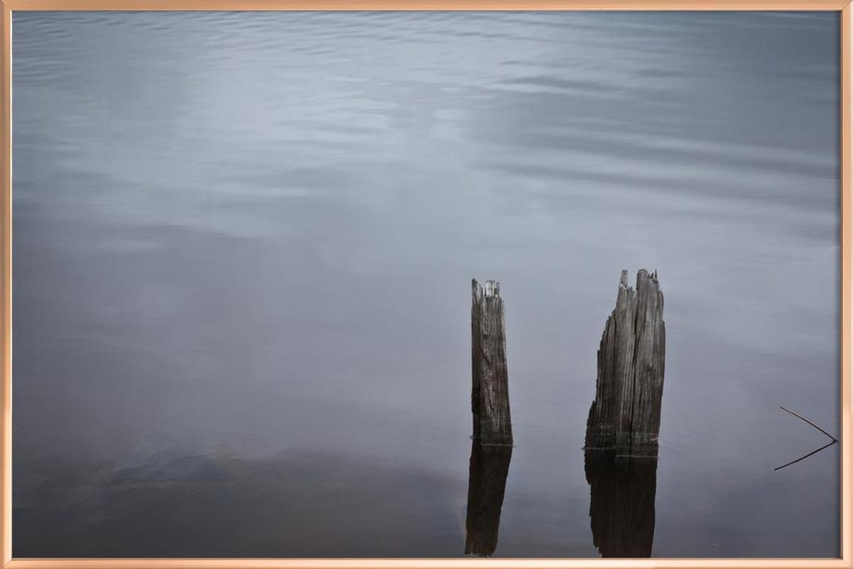 Mississippi Stillness Poster in Aluminium Frame