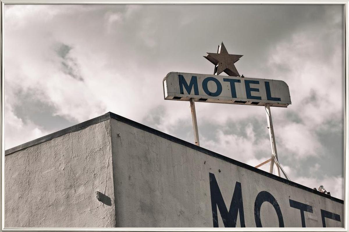 Motel Poster in Aluminium Frame