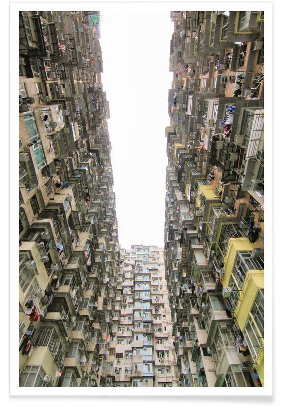 Gratte-ciels, Détails architecturaux, Hong Kong, Yick Cheong 1 affiche