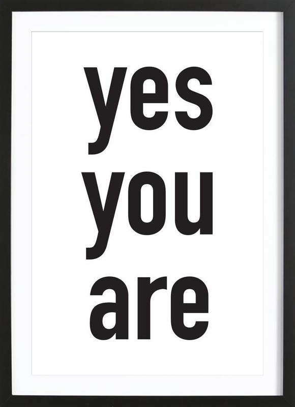 Yes you are ingelijste print