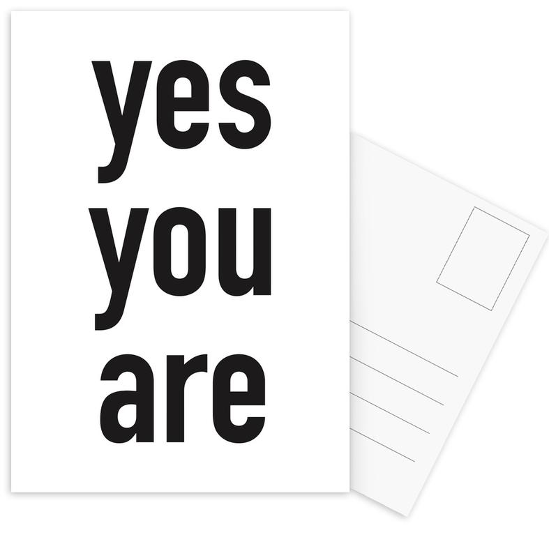 Yes you are Postcard Set