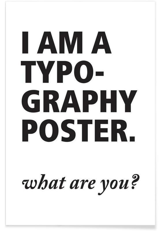 Noir & blanc, Citations et slogans, What are you? affiche