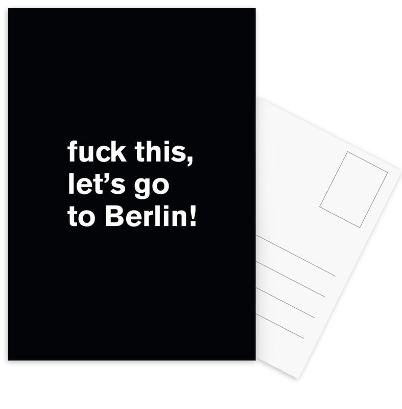 Fuck this Postcard Set