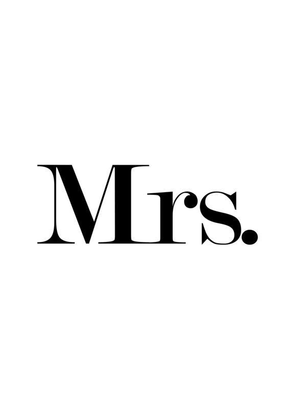 Mrs. canvas doek