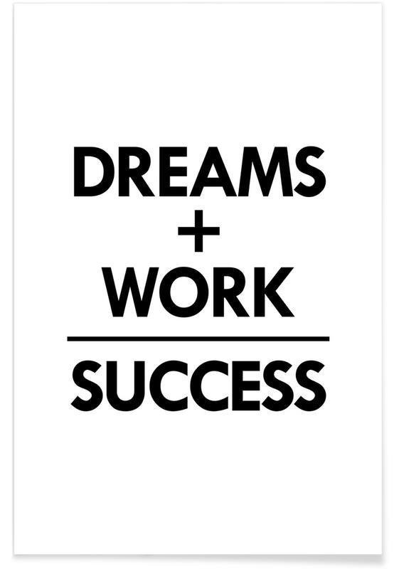 Zwart en wit, Quotes en slogans, Felicitaties, Success poster
