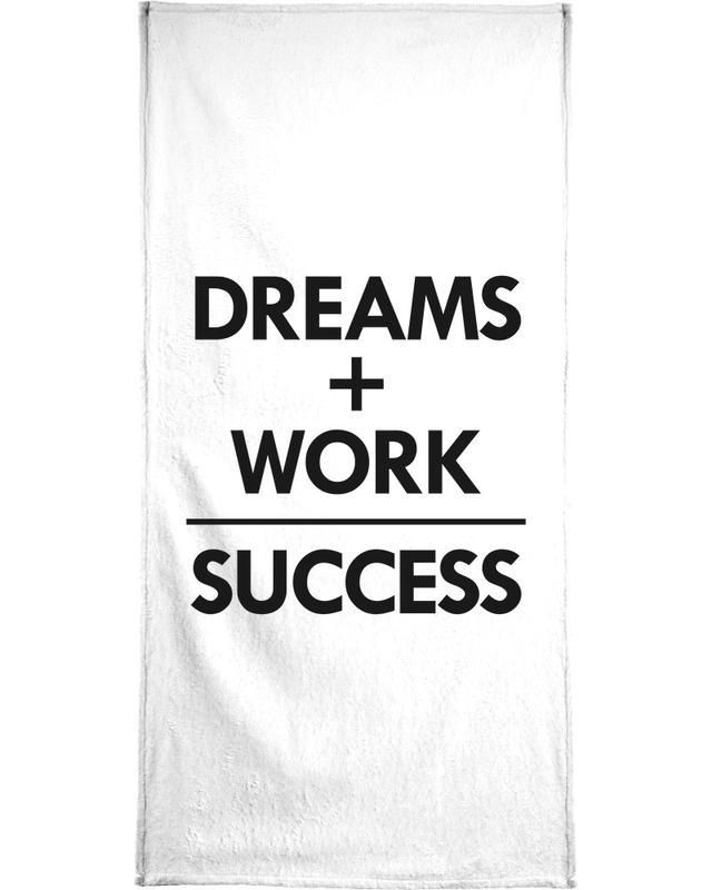 Black & White, Quotes & Slogans, Congratulations, Success Bath Towel