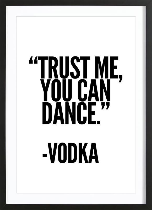 Vodka ingelijste print