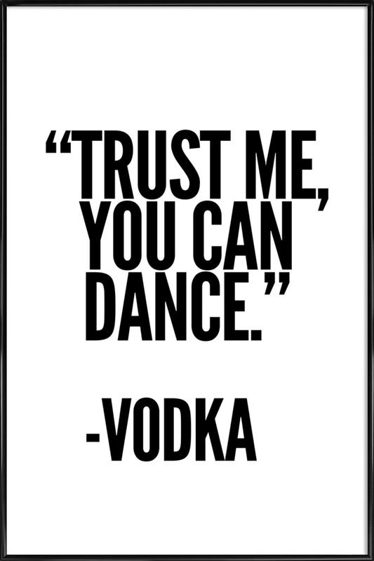 Vodka -Bild mit Kunststoffrahmen