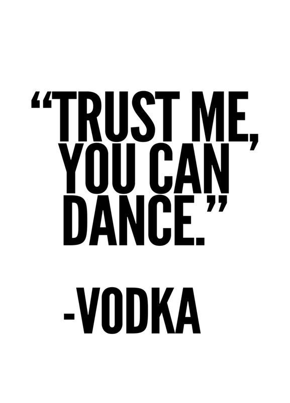 Vodka -Leinwandbild