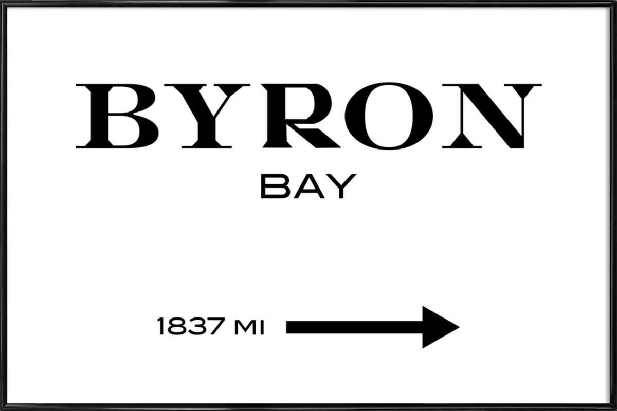 Byron Bay -Bild mit Kunststoffrahmen