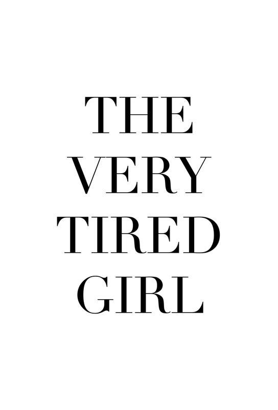 Tired Girl -Alubild