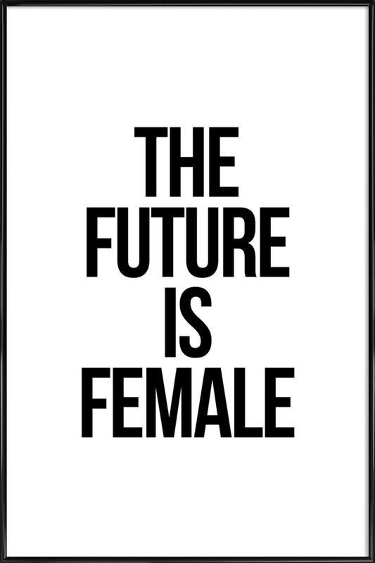 Female -Bild mit Kunststoffrahmen