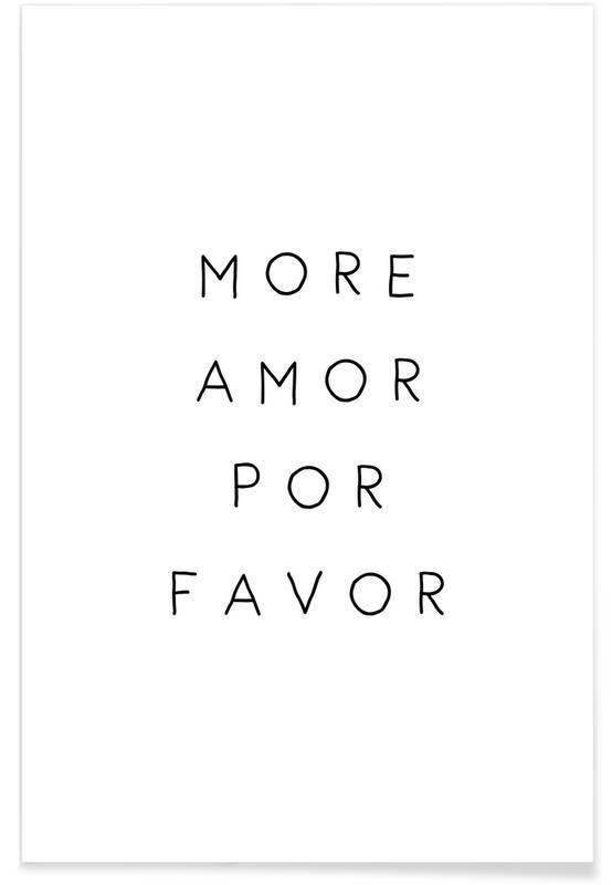 Citations d'amour, Noir & blanc, Citations et slogans, More Amor affiche