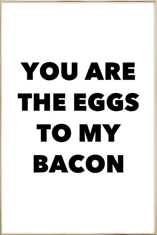 Bacon Poster in Aluminium Frame