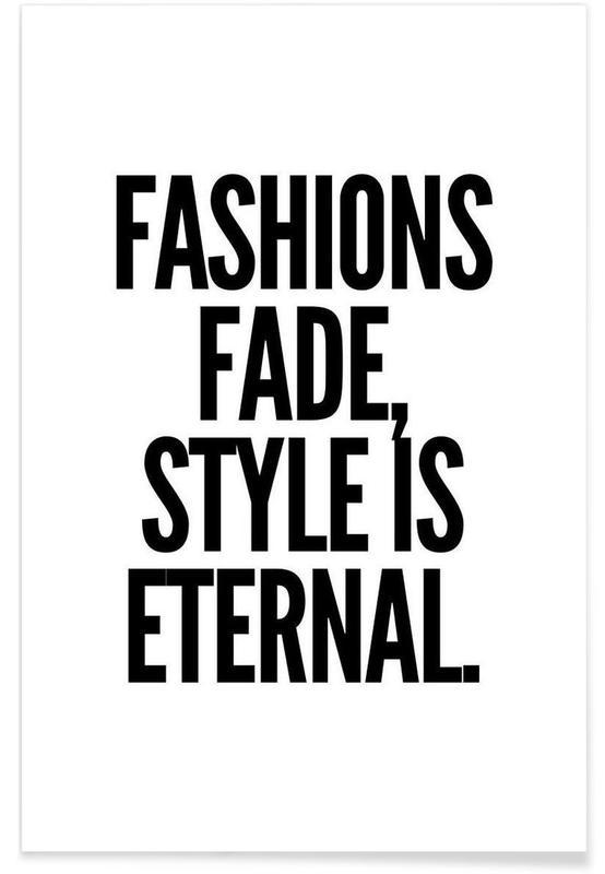 Noir & blanc, Citations et slogans, fashion affiche