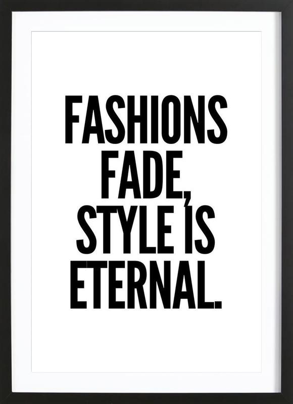 fashion affiche sous cadre en bois
