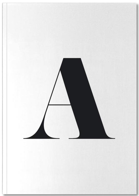 Alphabet et lettres, Noir & blanc, A Notebook