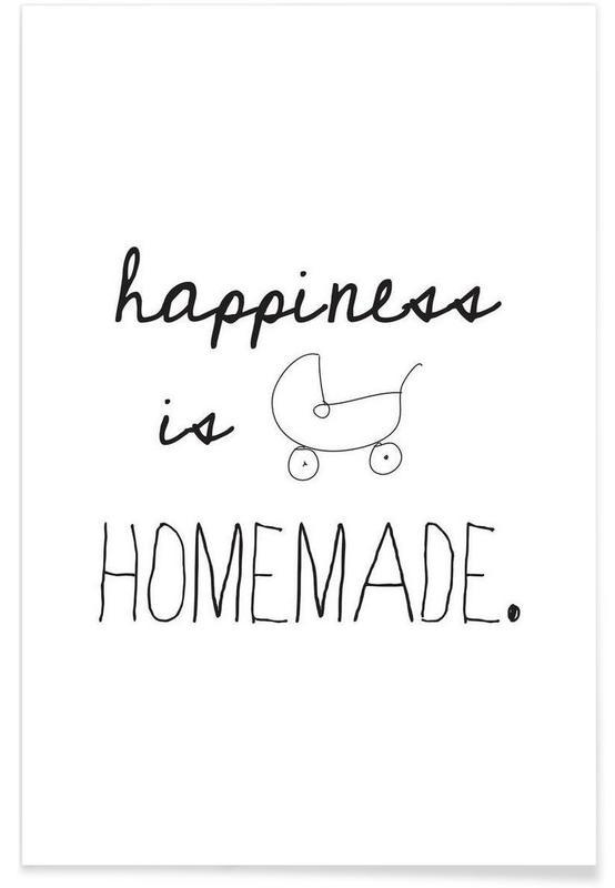 Zitate & Slogans, Schwarz & Weiß, Geburt & Baby, homemade -Poster