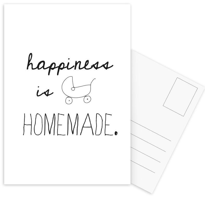 Black & White, Birth & Babies, Quotes & Slogans, homemade Postcard Set