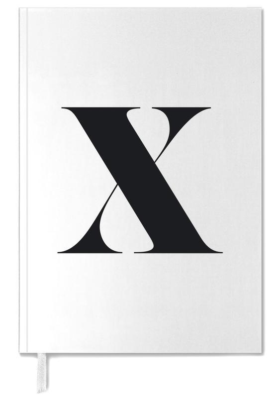 Alfabet en letters, Zwart en wit, X agenda