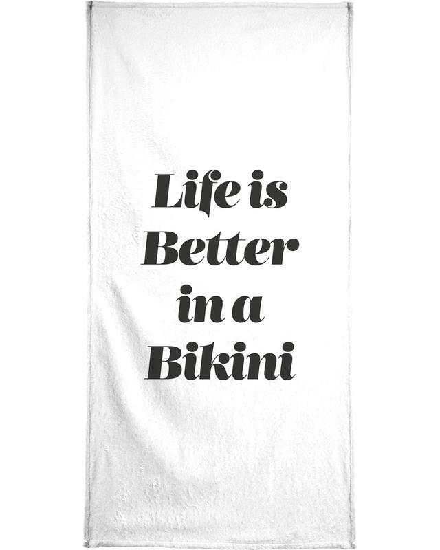 Black & White, Motivational, Quotes & Slogans, Bikini Bath Towel