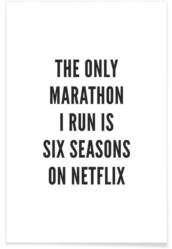 Black & White, Funny, Quotes & Slogans, Netflix Poster