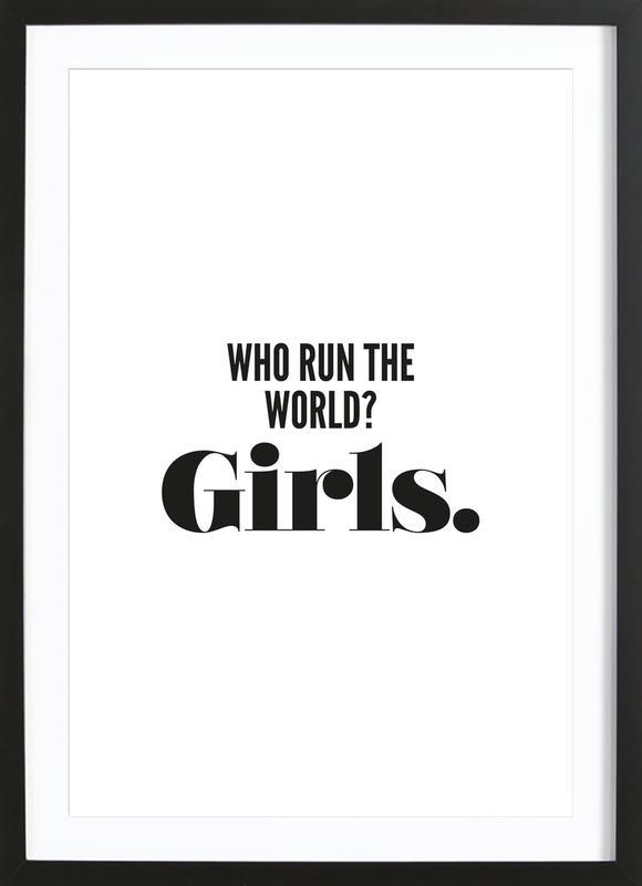 Run Girls -Bild mit Holzrahmen