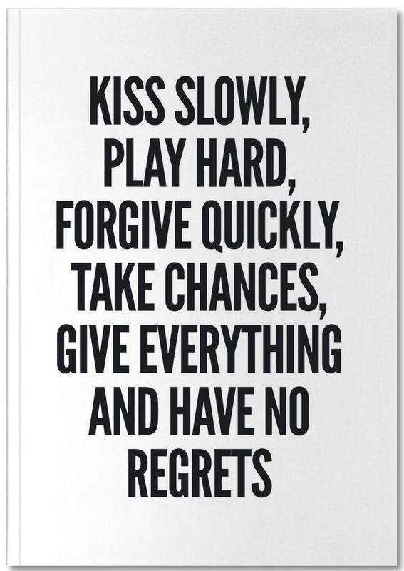 Black & White, Motivational, Quotes & Slogans, Kiss Notebook