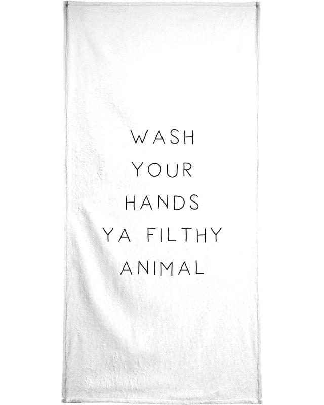 Black & White, Funny, Housewarmings, Quotes & Slogans, Filthy Bath Towel