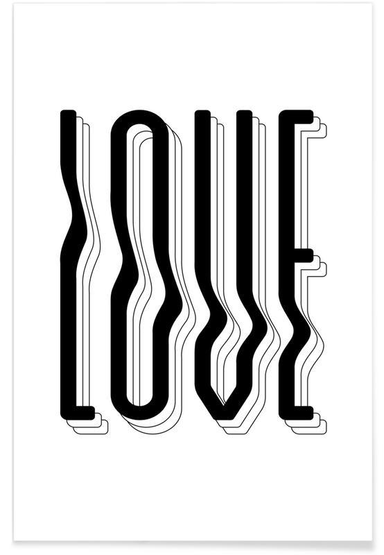Love Wavy Poster