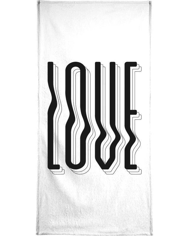 Love Wavy -Handtuch