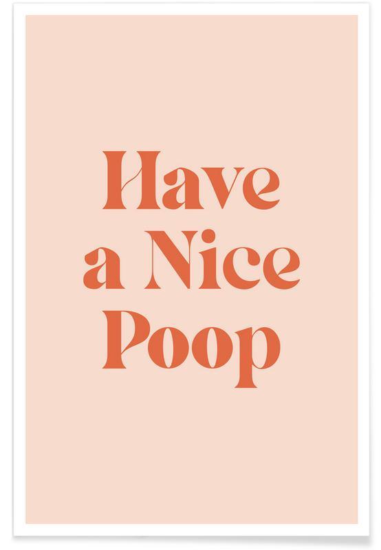 Funny, Nursery & Art for Kids, Nice Poop Poster