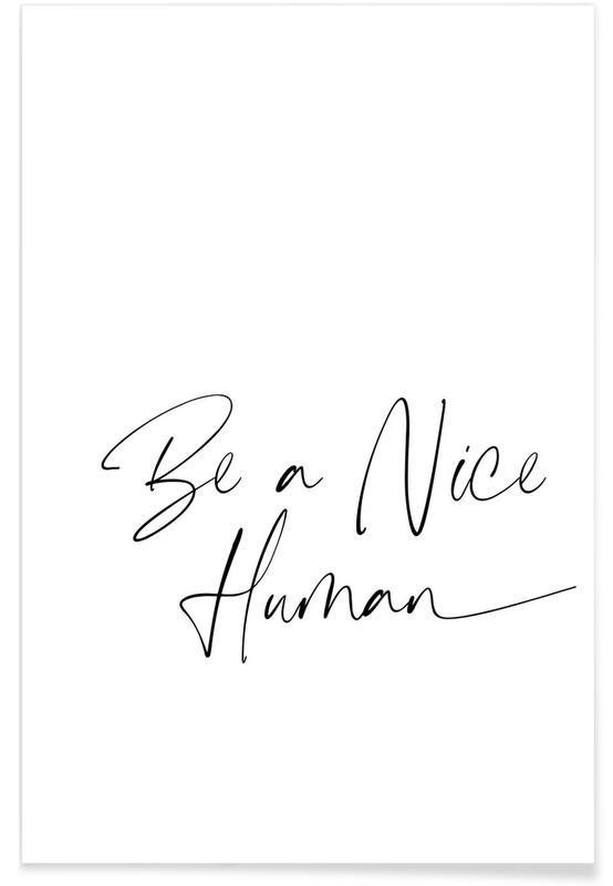 Art pour enfants, Nice Human affiche